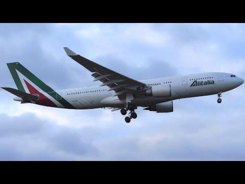 RARE! Alitalia Airbus A330-200 [I-EJGA/New Livery] Landing at Berlin Tegel Airport [Full HD]