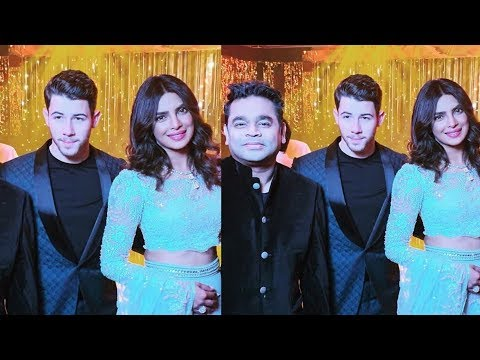 Omg ! Priyanka Chopra and Nick Jonas looking so adorable at their Wedding reception
