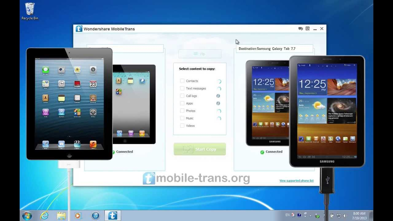 How to Sync Samsung Galaxy Tab with iTunes pics