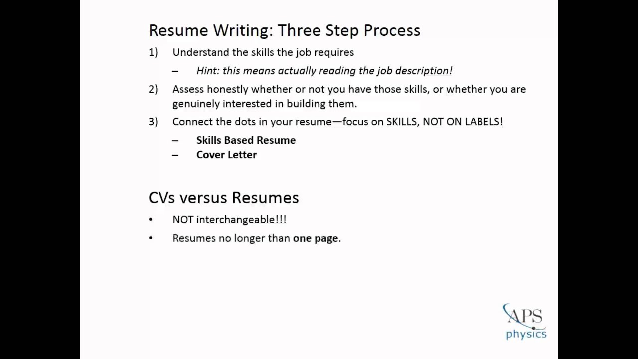 How to Write an Effective Resume - YouTube