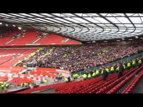 Liverpool fans locked in at Old Trafford