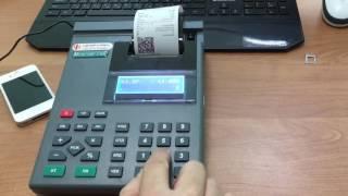 Работа на кассе Меркурий 130Ф