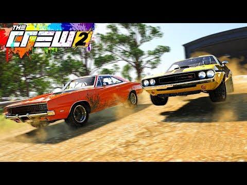 THE CREW 2 ШАШКИ - Dodge Challenger И Dodge Charger ЕДУТ В ПОТОКЕ! ШАШКИ С ДРУГОМ НА МАКС. СКОРОСТИ!