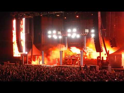 watch footage from rammstein s only 2016 u s show