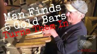 man finds hoard of gold bars in a tank 5 gold bars worth over 2 million video