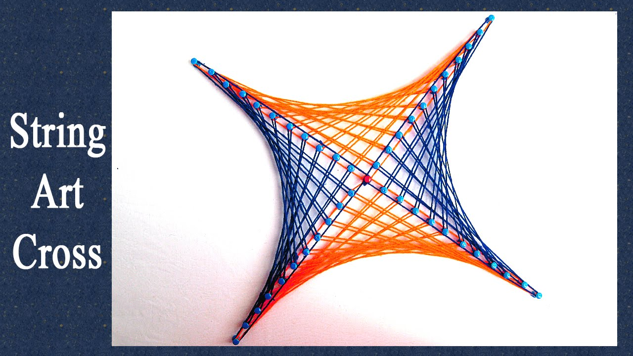 string art designs how to make cross pattern from string