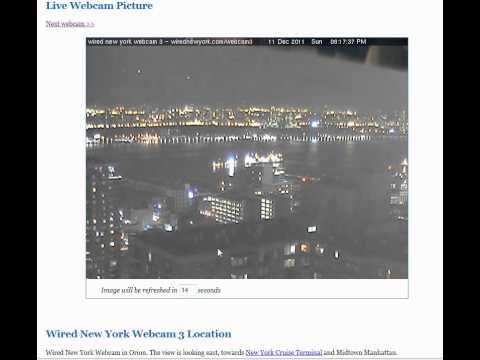 UFOs on NYC wirednewyork webcam 3