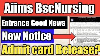aiims bsc nursing exam date 2021 aiims bsc nursing 2021 latest news aiims bsc nursing admit card 