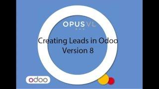 Odoo V8 Version 8 Leads Sales Tutorial OpenERP