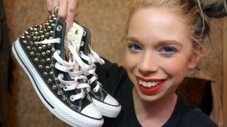 STUDDED CONVERSE SHOE UNBOXING!