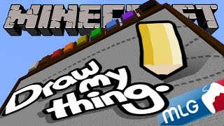 Minecraft - MLG PRO TEAM DRAWING! - Minecraft Draw My Thing Mini Game