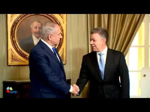 PM Netanyahu Meets Colombian President Juan Manuel Santos
