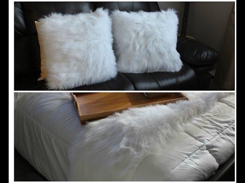How To DIY - Inexpensive Beautiful FUR/FLUFFY Throw Pillow And Blanket || DanTemmy