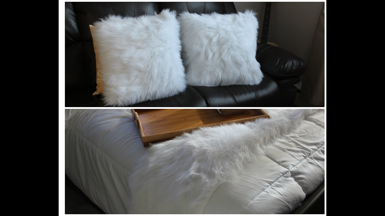Inexpensive Beautiful FUR/FLUFFY Throw Pillow