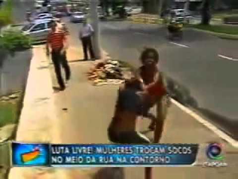 Brazilian street fight in Salvador