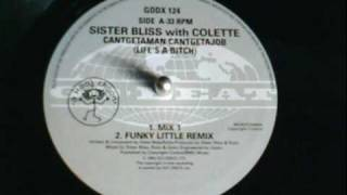 sister bliss with colette cantgetajob cantgetaman funky little remix.wmv