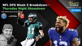 Daily Fantasy Sports Advisor NFL DFS Week 6 - Thursday Night Showdown