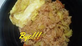 {THE SAMBAL SERIES} Nasi Goreng Sambal guna Rice Cooker [Sambal Fried Rice using Ricecooker]