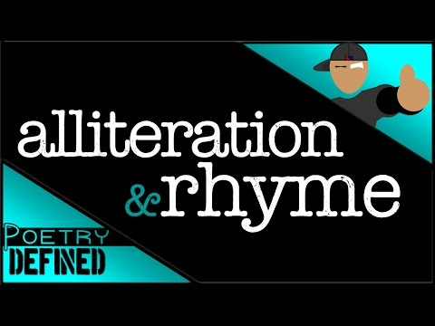 Alliteration & Rhyme, #PoetryDefined