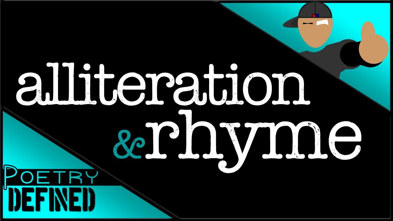 small resolution of Alliteration \u0026 Rhyme