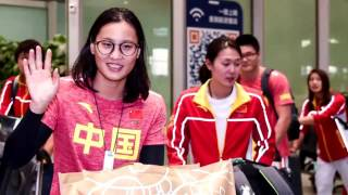 Swimmer Fu Yuanhui And Ning Zetao Come Back To China