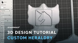 Shapeways presents a 3D tutorial: Add Custom Heraldry To Your Miniature