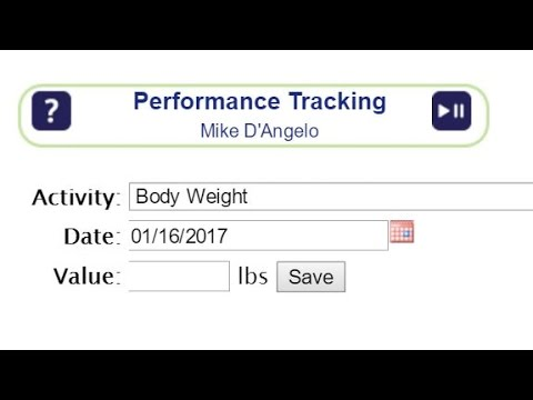 Performance Tracking Tutorial for Trainers