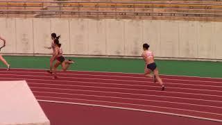 2018東海学生陸上女子4x100mR予選 水野瑛 検索動画 23