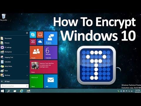 How to Encrypt Windows 10 - Truecrypt 2018