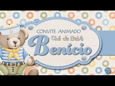 Convite Animado Chá De Bebê Youtube