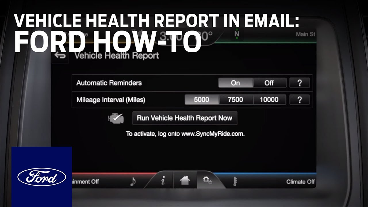 ford health report Viewing a Vehicle Health Report Through Email | Ford How-To | Ford ...