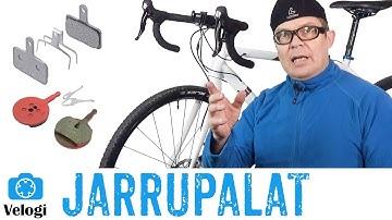 Jarrupalojen vaihto polkupyörän levyjarruun