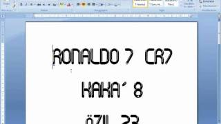 Real Madrid 2011/2012 Font