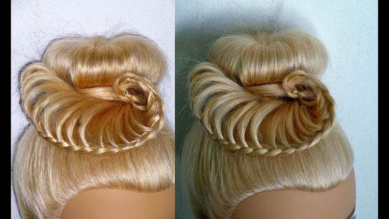 Braided Donut Bun Quick And Easy Girly Updo Braid Hairstyles