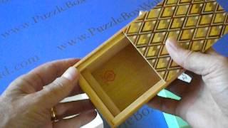 4 Sun 7 Step Kujakubishi Japanese Puzzle Box