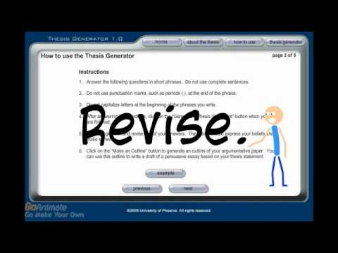 easy thesis generator Thesis statement generator a good thesis statement generator makes creating a thesis statement fast and easy a thesis generator can be defined as an online tool that helps you in creating a clear thesis statement for an argumentative paper or persuasive essay.