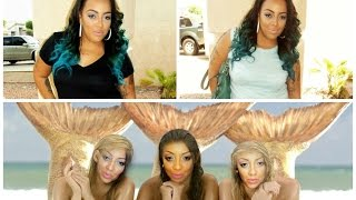 BLACK & TEAL OMBRE HAIR TUTORIAL| KYLIE JENNER INSPIRED