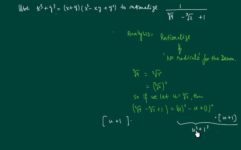 How To Rationalize Denominator 1 4 1 3