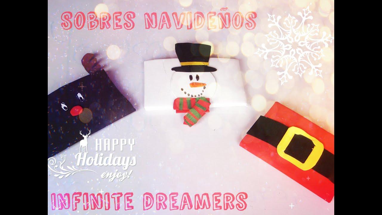 Sobres para regalar manualidades navide as youtube - Como hacer tarjetas navidenas originales ...