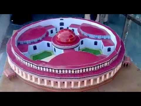 Papercraft paper model of parliament house.flv