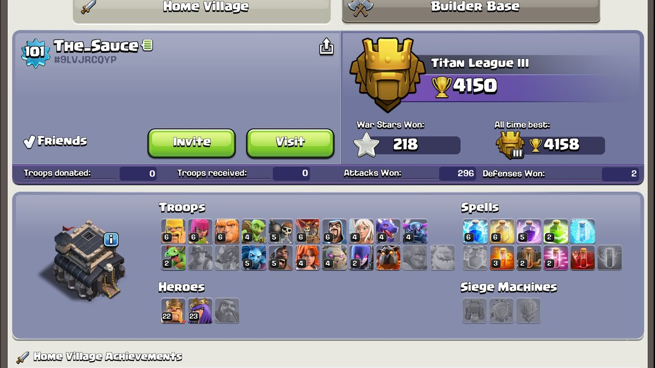 TH9 Pushing Army To Titan Baby Loons Queen Walk E Dragon Strategy 2019