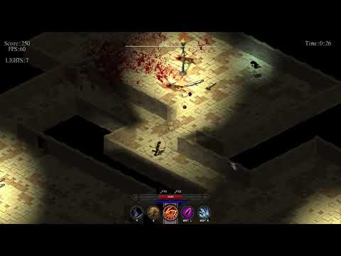 IzoProject Running 1080p60FPS SOLID on INTEL HD - Isometric RogueLike ARPG (GameMaker)