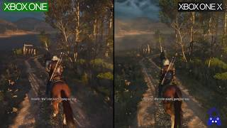 The Witcher III | ONE vs ONE X | 4K GRAPHICS Comparison