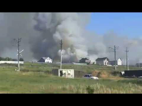 155 пожарных тушат лес в Волжском районе