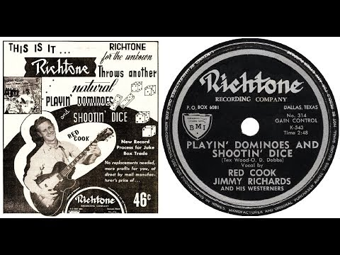 Red Cook & Jimmy Richards And His Westerners - Playin' Dominoes and Shootin' Dice (1953)