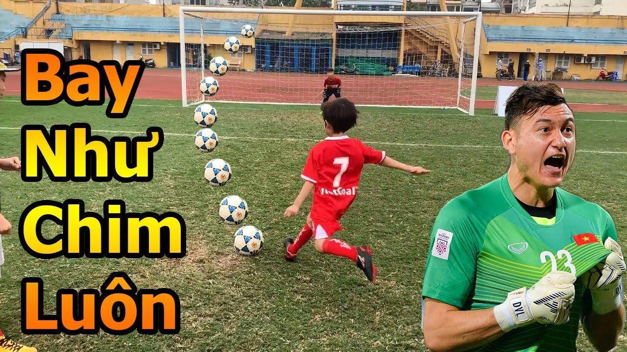 Thử Thách Bóng Đá Quang Hải Nhí trổ tài bắt Penalty như Đặng Văn Lâm ĐT Việt Nam mùa Asian CUP 2019