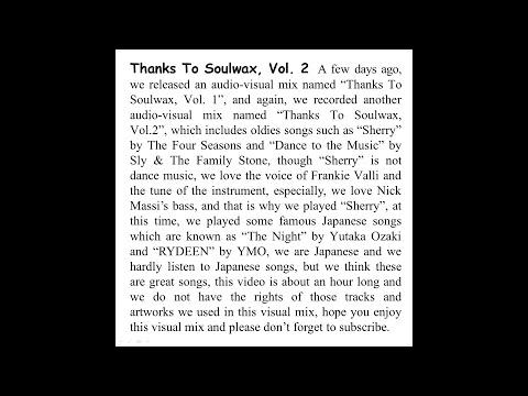 Thanks To Soulwax, Vol. 2