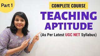 Teaching Aptitude: As per Latest NTA UGC NET Paper 1 Syllabus (Part 1)