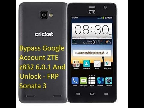 Bypass Google Account ZTE Z832 6 0 1 And Unlock FRP Sonata 3 100%Testad