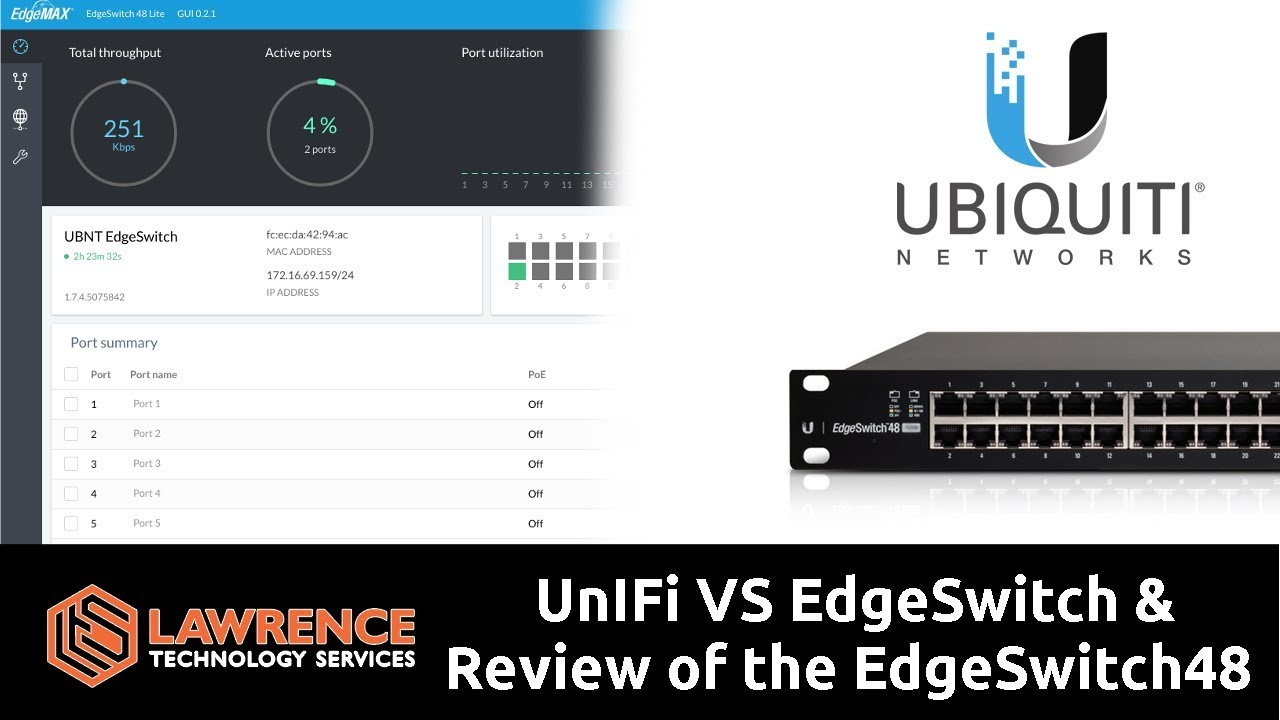 UnIFi VS EdgeSwitch & Quick Review of the EdgeSwitch48 Lite